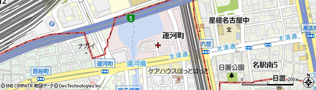 愛知県名古屋市中川区運河町周辺の地図