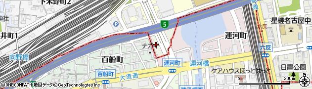 愛知県名古屋市中村区運河町周辺の地図