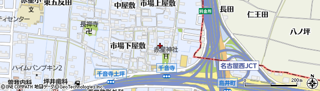 愛知県名古屋市中川区富田町大字千音寺(赤星裏)周辺の地図