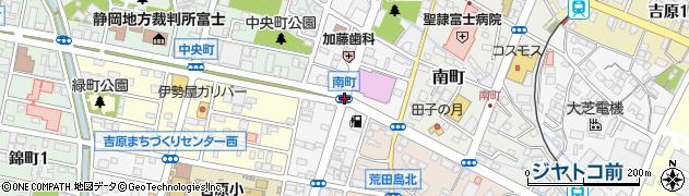南町周辺の地図