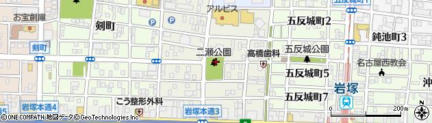 愛知県名古屋市中村区二瀬町周辺の地図
