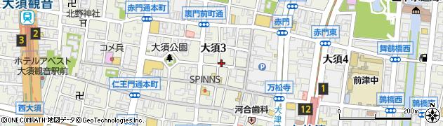アバン周辺の地図