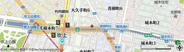 愛知県名古屋市千種区小松町周辺の地図
