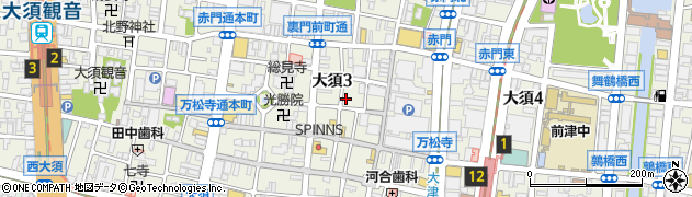 愛知県名古屋市中区大須3丁目21-28周辺の地図
