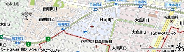 愛知県名古屋市千種区日岡町周辺の地図