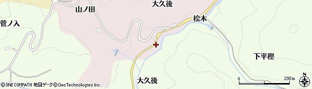 愛知県豊田市玉野町(桧木)周辺の地図
