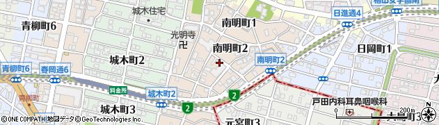 愛知県名古屋市千種区南明町周辺の地図