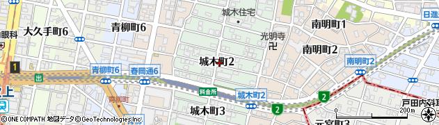愛知県名古屋市千種区城木町周辺の地図