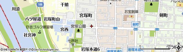 愛知県名古屋市中村区宮塚町周辺の地図