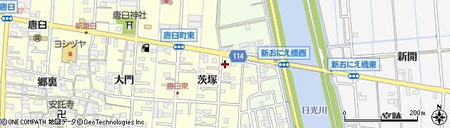 ド・エール周辺の地図