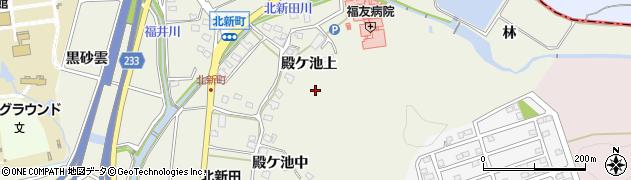 愛知県日進市北新町(殿ケ池上)周辺の地図