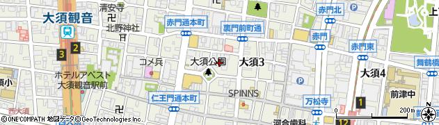 総見寺周辺の地図