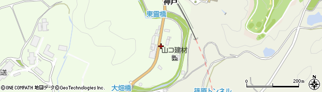 愛知県豊田市大畑町(三反田)周辺の地図