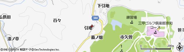 愛知県豊田市中立町(引地)周辺の地図