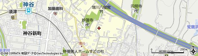 静岡県富士市増川周辺の地図