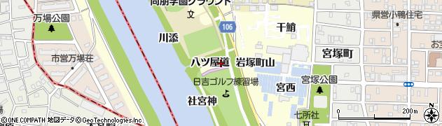 愛知県名古屋市中村区岩塚町(八ツ屋道)周辺の地図