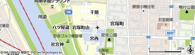 愛知県名古屋市中村区岩塚町(本陣屋敷)周辺の地図