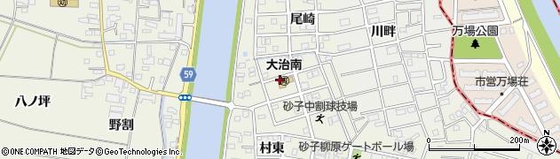 愛知県大治町(海部郡)砂子(中割)周辺の地図