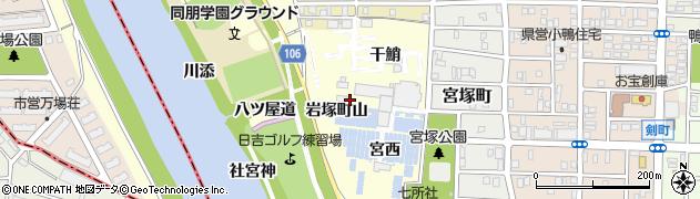 愛知県名古屋市中村区岩塚町(山)周辺の地図