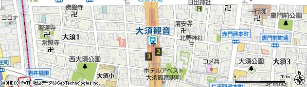 愛知県名古屋市中区周辺の地図