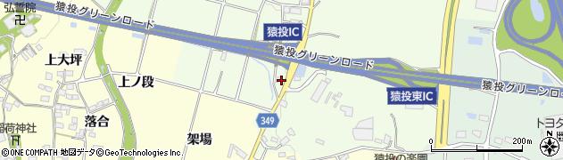 愛知県豊田市猿投町(池田)周辺の地図