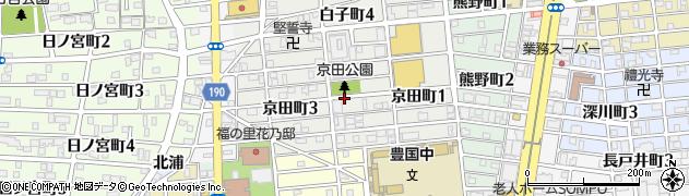 愛知県名古屋市中村区京田町周辺の地図