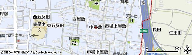 愛知県名古屋市中川区富田町大字千音寺(中屋敷)周辺の地図