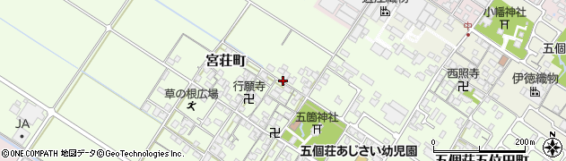 滋賀県東近江市宮荘町周辺の地図