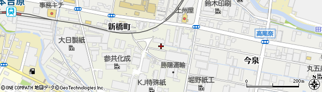 静岡県富士市新橋町周辺の地図
