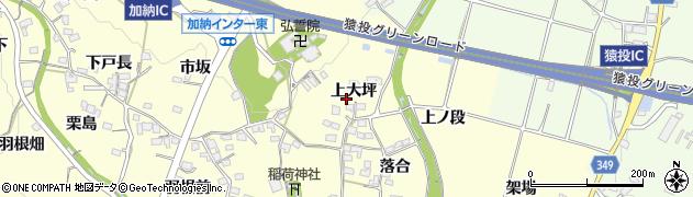 愛知県豊田市加納町(上大坪)周辺の地図