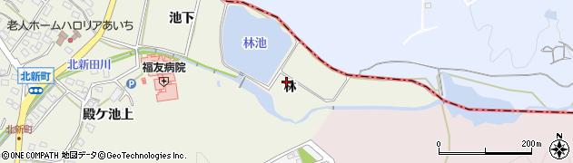 愛知県日進市北新町(林)周辺の地図