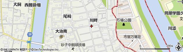 愛知県大治町(海部郡)鎌須賀(川畔)周辺の地図