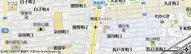 愛知県名古屋市中村区黄金通周辺の地図