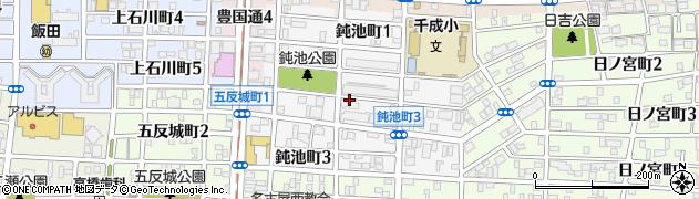 愛知県名古屋市中村区鈍池町周辺の地図