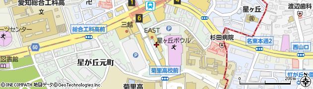 魚忠回転寿司ダイニング星が丘テラス店周辺の地図