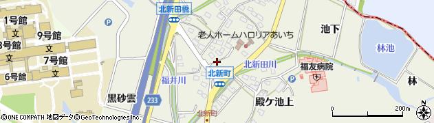 愛知県日進市北新町(南鶯)周辺の地図