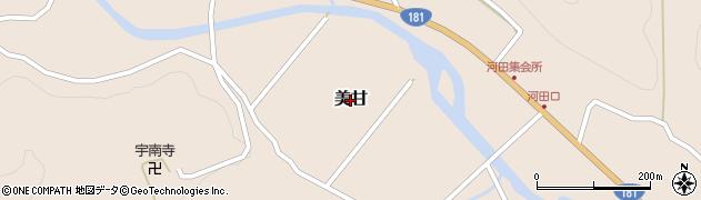 岡山県真庭市美甘周辺の地図