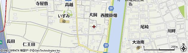 愛知県大治町(海部郡)砂子(犬飼)周辺の地図