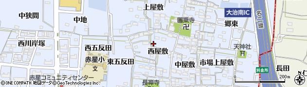愛知県名古屋市中川区富田町大字千音寺(西屋敷)周辺の地図