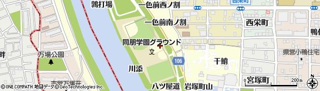 愛知県名古屋市中村区岩塚町山堤付周辺の地図