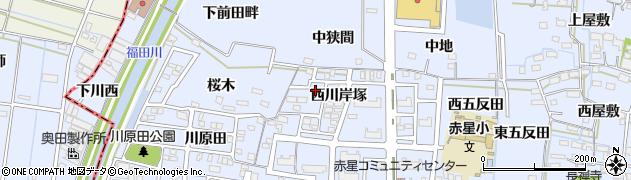 愛知県名古屋市中川区富田町大字千音寺(西川岸塚)周辺の地図