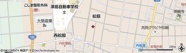 愛知県愛西市内佐屋町周辺の地図