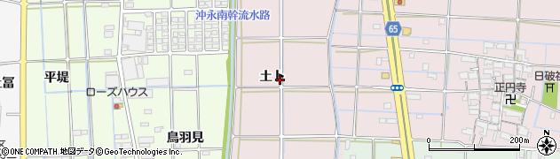 愛知県津島市高台寺町(土卜)周辺の地図