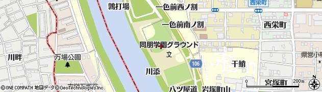 愛知県名古屋市中村区岩塚町(山西)周辺の地図
