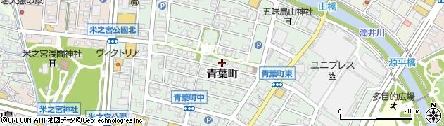 静岡県富士市青葉町周辺の地図