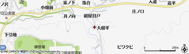 愛知県豊田市中立町(湯ノ木)周辺の地図