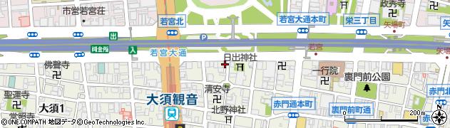 愛知県名古屋市中区大須2丁目2-12周辺の地図