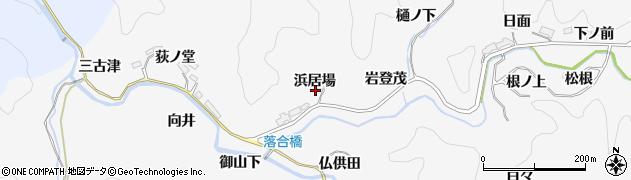 愛知県豊田市中立町(浜居場)周辺の地図