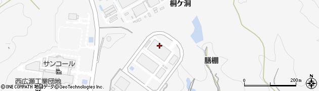 愛知県豊田市西広瀬町(膳棚)周辺の地図