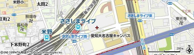 愛知県名古屋市中村区平池町周辺の地図